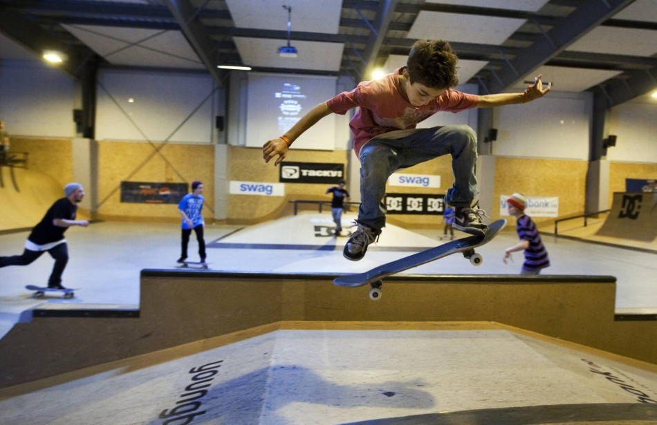 NM i skateboard i fysak hallen på Slettebakken. Gard Jonsson. Foto: Bjørn Erik Larsen/Bergens Tidende