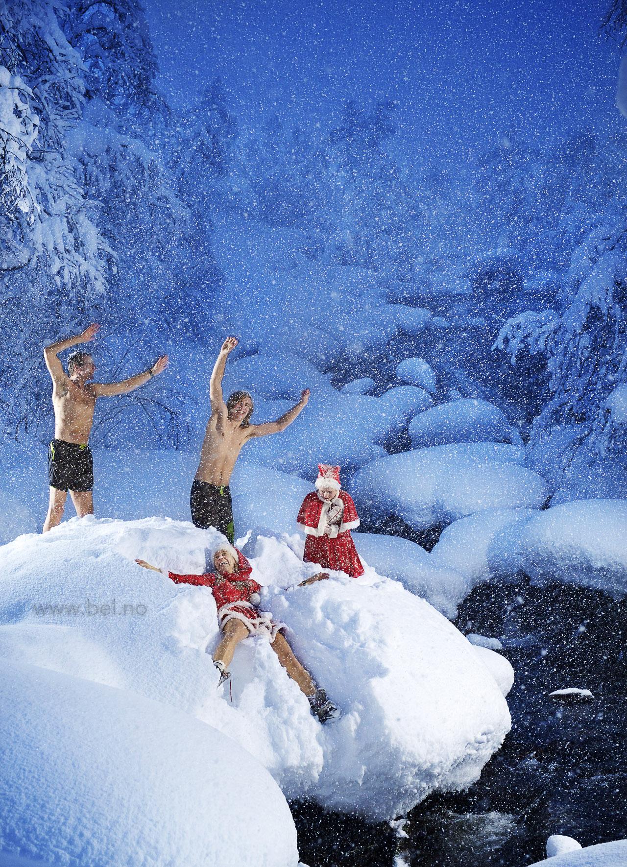 Julekort og hytta